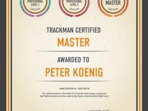 Trackman-Master Peter Koenig